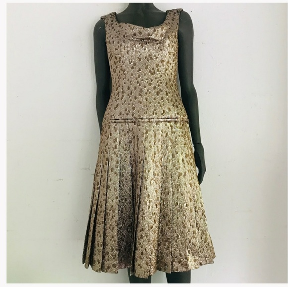 Carolina Herrera Dresses & Skirts - Carolina Herrera Lamé Dress